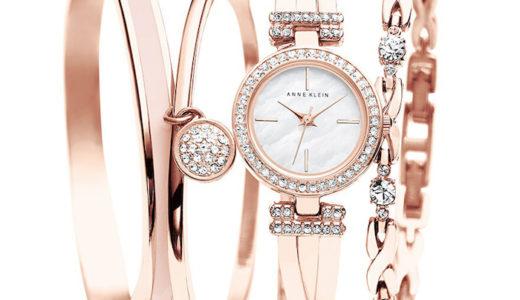 1万円以下のハイセンスなレディース腕時計:Anne Klein (アンクライン)のバングル付き腕時計